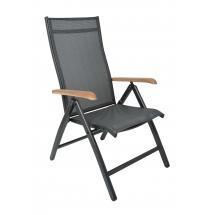 Zahradní polohovací židle CONCEPT, antracit, teak