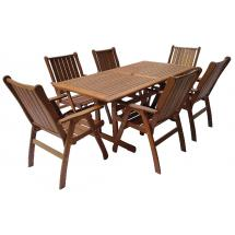 Zahradní nábytek - Sestava MERANTI VICTORIA set 180/203x90cm