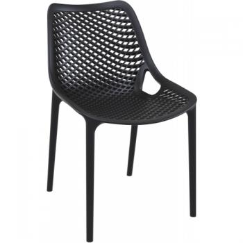 Zahradní židle plastová AIR, černá DIMENZA