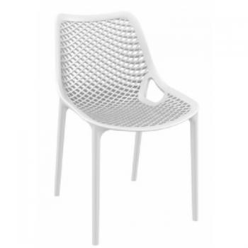 Zahradní židle plastová AIR, bílá DIMENZA
