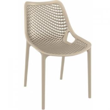 Zahradní židle plastová AIR, šedá DIMENZA