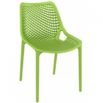 Zahradní židle plastová AIR, zelená DIMENZA