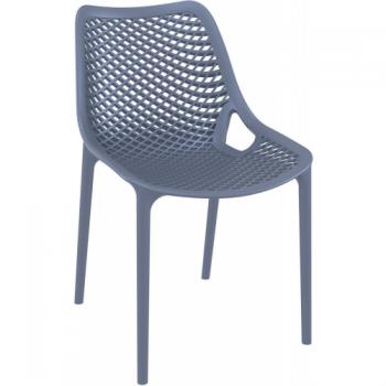 Zahradní židle plastová AIR, tmavě šedé DIMENZA