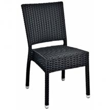 Zahradní židle ratanové MEZZA, černá