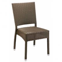 Zahradní židle ratanové MEZZA, světle hnědá