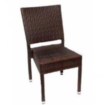 Zahradní židle ratanové MEZZA, hnědá