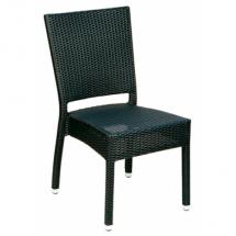 Zahradní židle ratanové MEZZA, hnědošedá
