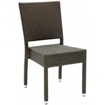 Zahradní židle ratanové MEZZA, šedá