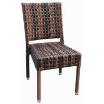 Zahradní židle ratanová MEZZA - ROUND, hnědá
