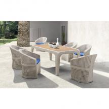 Zahradní nábytek - jídelní ratanový set LYRE
