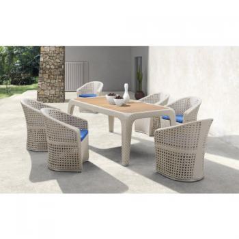 Zahradní nábytek - jídelní ratanový set LYRE DIMENZA