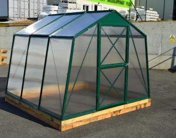 Skleník LANITPLAST DODO 8x7 PC 6 mm zelený, š 235 x d 222 cm LG1112
