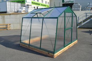 Skleník LANITPLAST DODO 8x7 PC 10 mm zelený, š 235 x d 222 cm LG1120