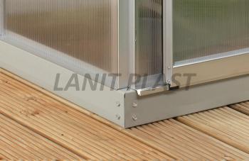 Základna pod skleník LANITPLAST PLUGIN 6x10, šedá LG826