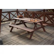 Zahradní nábytek - Set PIKNIK - 200 cm, borovicové dřevo