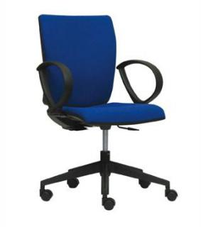 Kancelářská židle LYRA  232-SYS, černý nylonový kříž