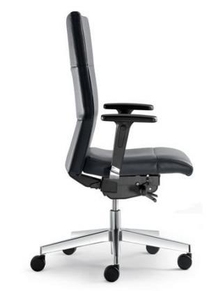 Kancelářská židle LASER 695-SYS, černý nylonový  kříž