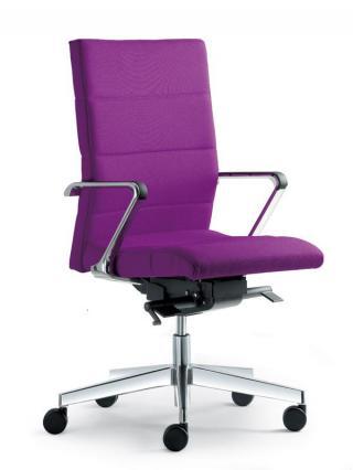 Kancelářská židle LASER 690-SYS, nylonový černý kříž