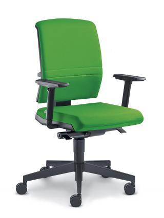 Kancelářská židle ZETA 364-SYS,  černý nylonový kříž