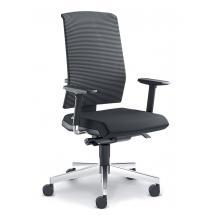 Kancelářská židle ZETA 363-SYS, F40-N6, hliníkový kříž