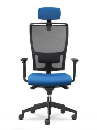 Kancelářská židle LYRA NET 201-SY, černý nylonový kříž