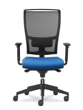 Kancelářská židle LYRA NET 200-SYS, černý nylonový kříž