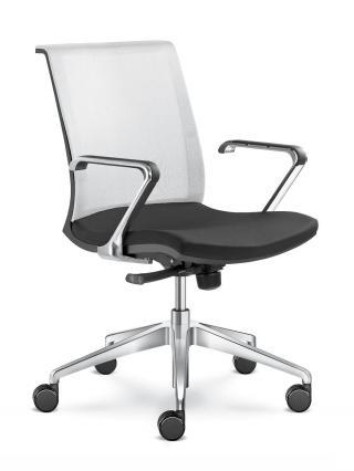 Kancelářská židle LYRA NET 203-F80-N6, hliníkový kříž