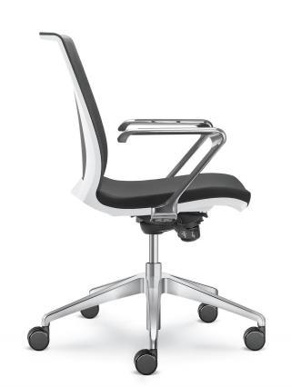 Kancelářská židle LYRA NET 213-F80-N6, hliníkový kříž