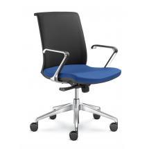 Kancelářská židle LYRA NET, 204-F80-N6, hliníkový kříž