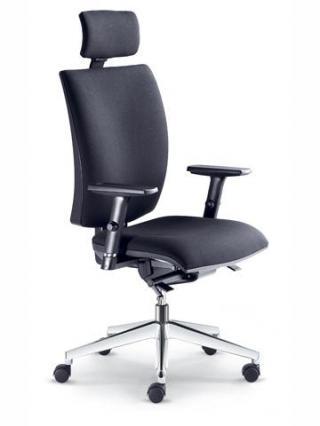 Kancelářská židle LYRA  237-SYS, černý nylonový kříž