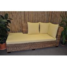 Odpočinková pohovka Lazy levá banánový list polstr žlutý - kopie