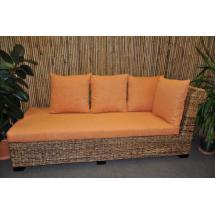 Odpočinková pohovka Lazy levá banánový list polstr oranžový - kopie