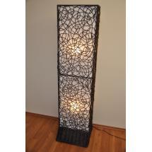 Lampa ratanová vysoká včetně LED žárovek