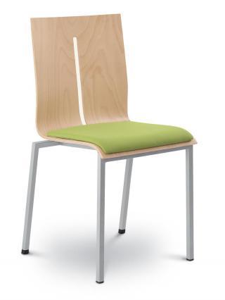 Jednací a konferenční židle TWIST 241-N2, konstrukce efekt hliník