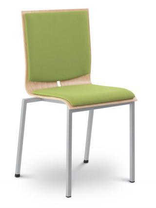 Jednací a konferenční židle TWIST 242-N4, chromovaná konstrukce
