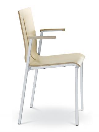 Jednací a konferenční židle TWIST 250-N2, konstrukce efekt hliník, s područkami