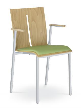 Jednací a konferenční židle TWIST 251-N1, černá konstrukce, s područkami