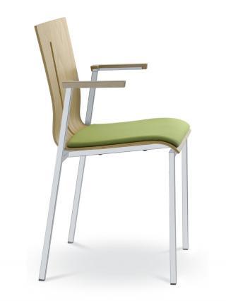 Jednací a konferenční židle TWIST 251-N2, konstrukce efekt hliník