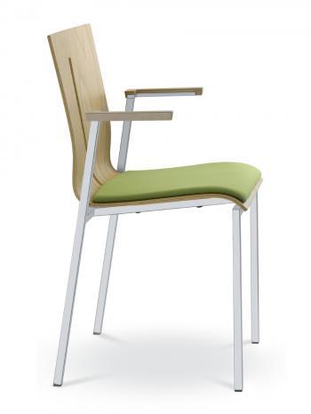 Jednací a konferenční židle TWIST 251-N2, konstrukce efekt hliník LD SEATING 251-N2