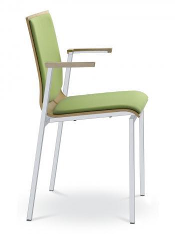 Jednací a konferenční židle TWIST 252-N1, černá konstrukce, s područkami LD SEATING 252-N1