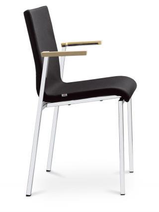 Jednací a konferenční židle TWIST 256-N1, černá konstrukce, područky