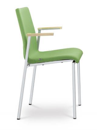 Jednací a konferenční židle TWIST 256-N2, konstrukce efekt hliník, područky