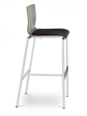 Barová židle TWIST 244-N2, konstrukce efekt hliník LD SEATING 244-N2