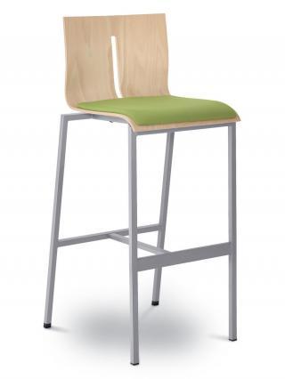 Barová židle TWIST  244-N2, konstrukce efekt hliník