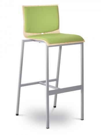 Barová židle TWIST 245-N2, konstrukce efekt hliník LD SEATING 245-N2