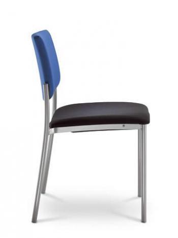 Jednací a konferenční židle SEANCE 090-K-N4, chromovaná konstrukce LD SEATING 090-K-N4