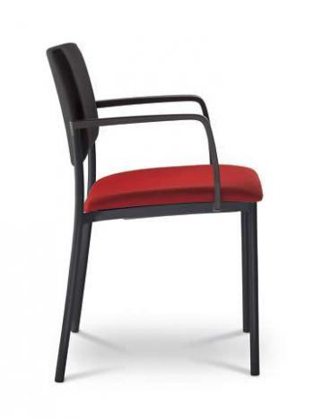 Jednací a konferenční židle SEANCE 090-K-B-N1, černá konstrukce, područky LD SEATING 090-K-B-N1