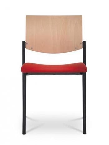 Jednací a konferenční židle SEANCE 091-K-N1, černá konstrukce LD SEATING 091-K-N1