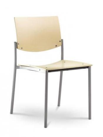 Jednací a konferenční židle SEANCE 092-K-N4, chromovaná konstrukce LD SEATING 092-K-N4