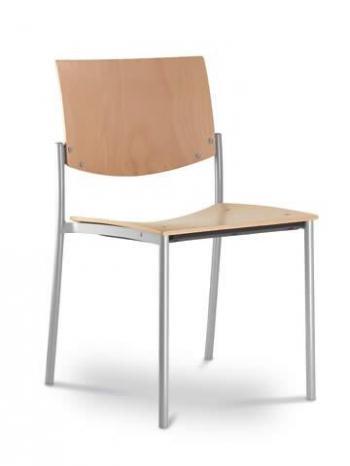 Jednací a konferenční židle SEANCE 092-K-N2, konstrukce efekt hliník LD SEATING 092-K-N2